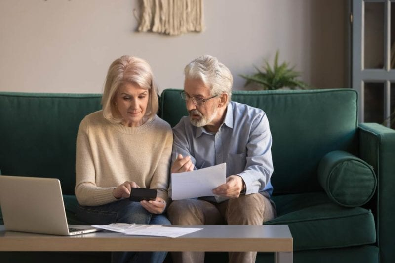 Image of couple discussing inheritance tax planning in Market Drayton