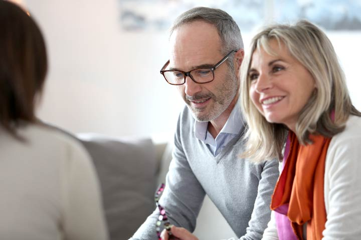 Image of couple discussing inheritance tax planning in Bicton Heath